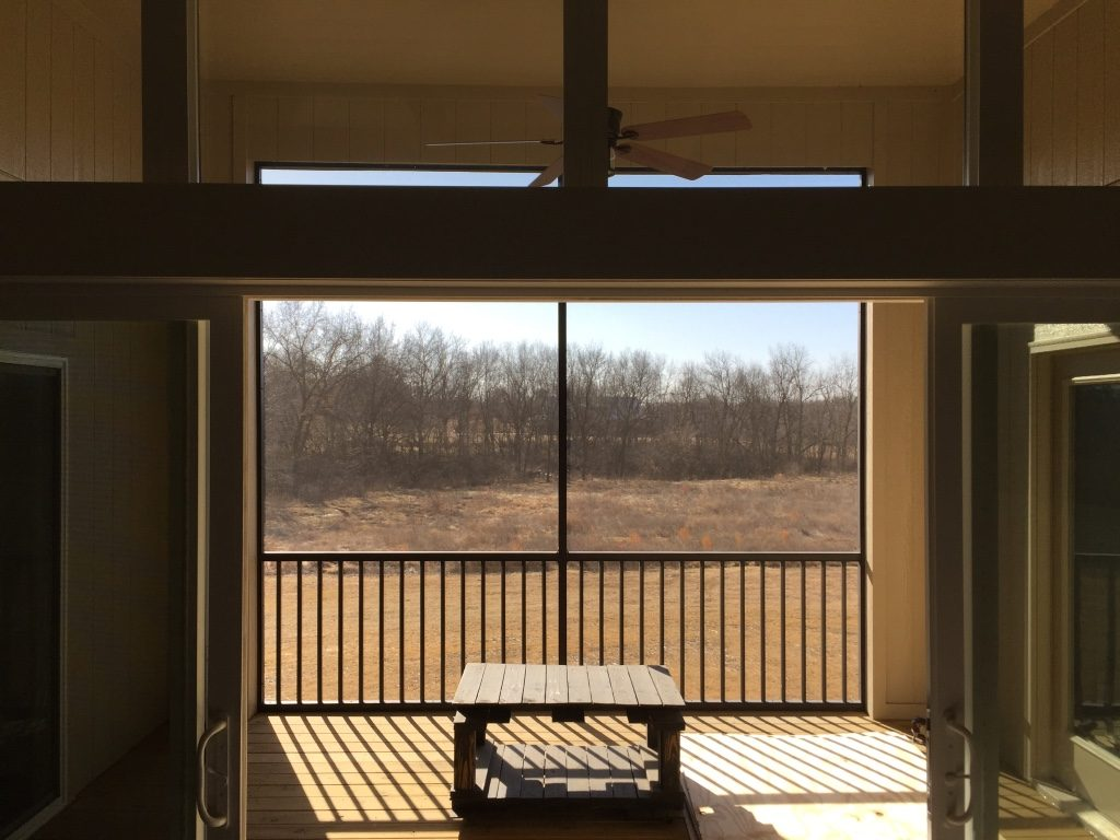 exterior vinyl floor decking for a screened in porch