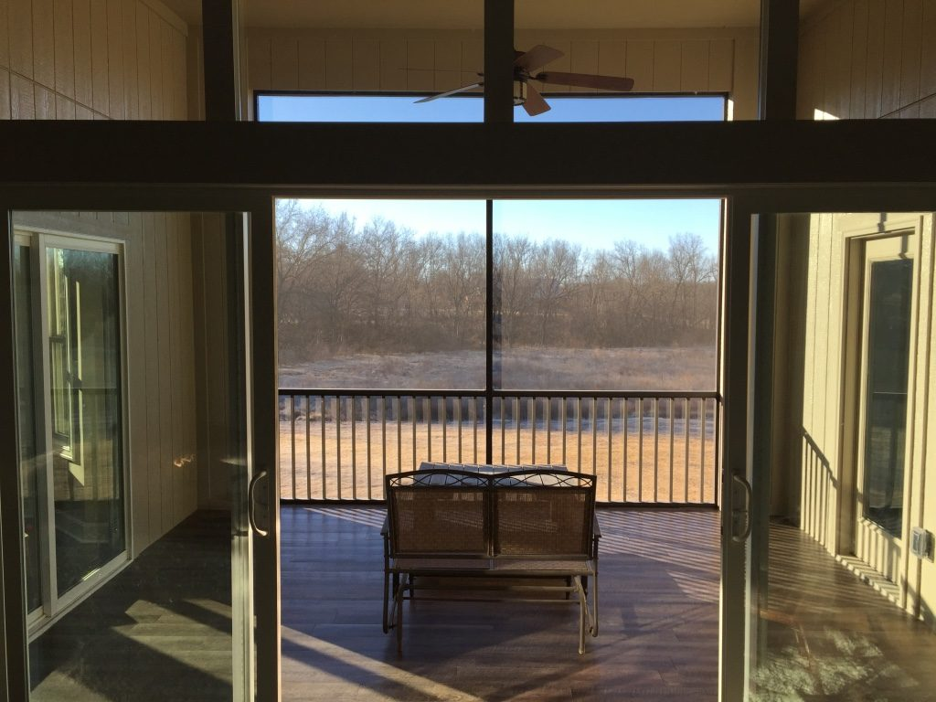 exterior vinyl floor decking for a screened in porch finished