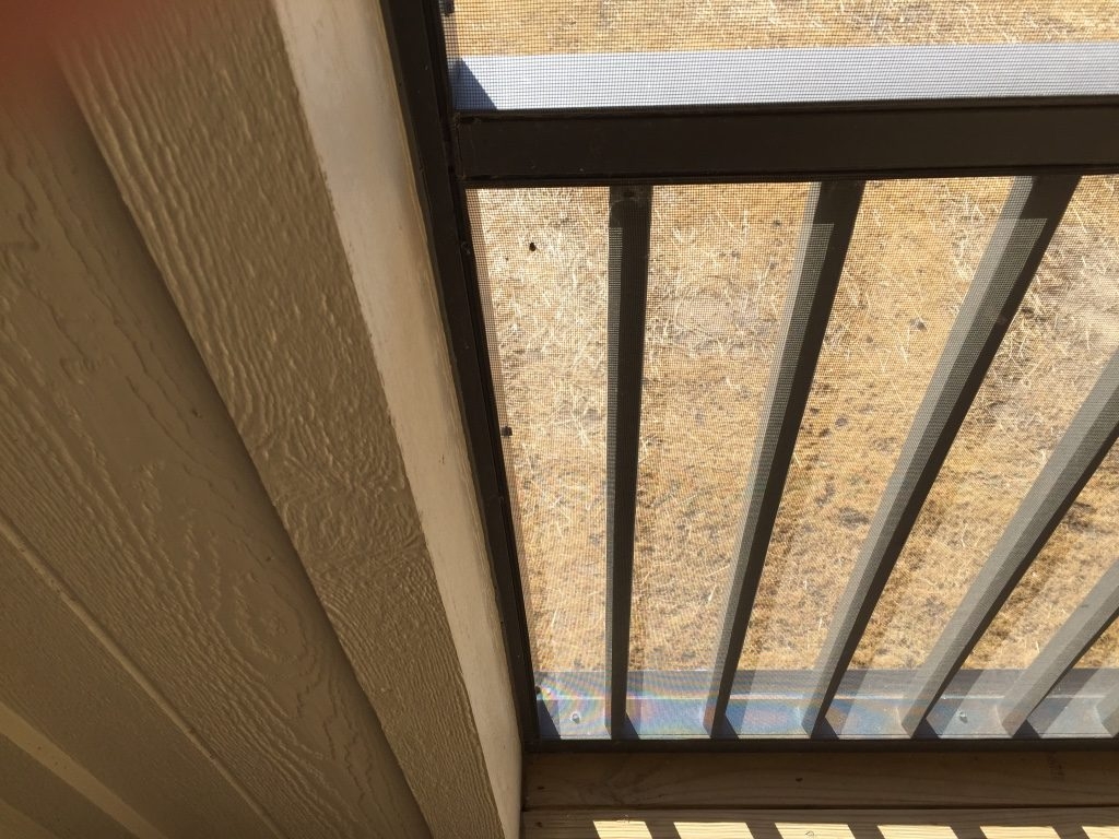 exterior vinyl floor decking for a screened in porch screen