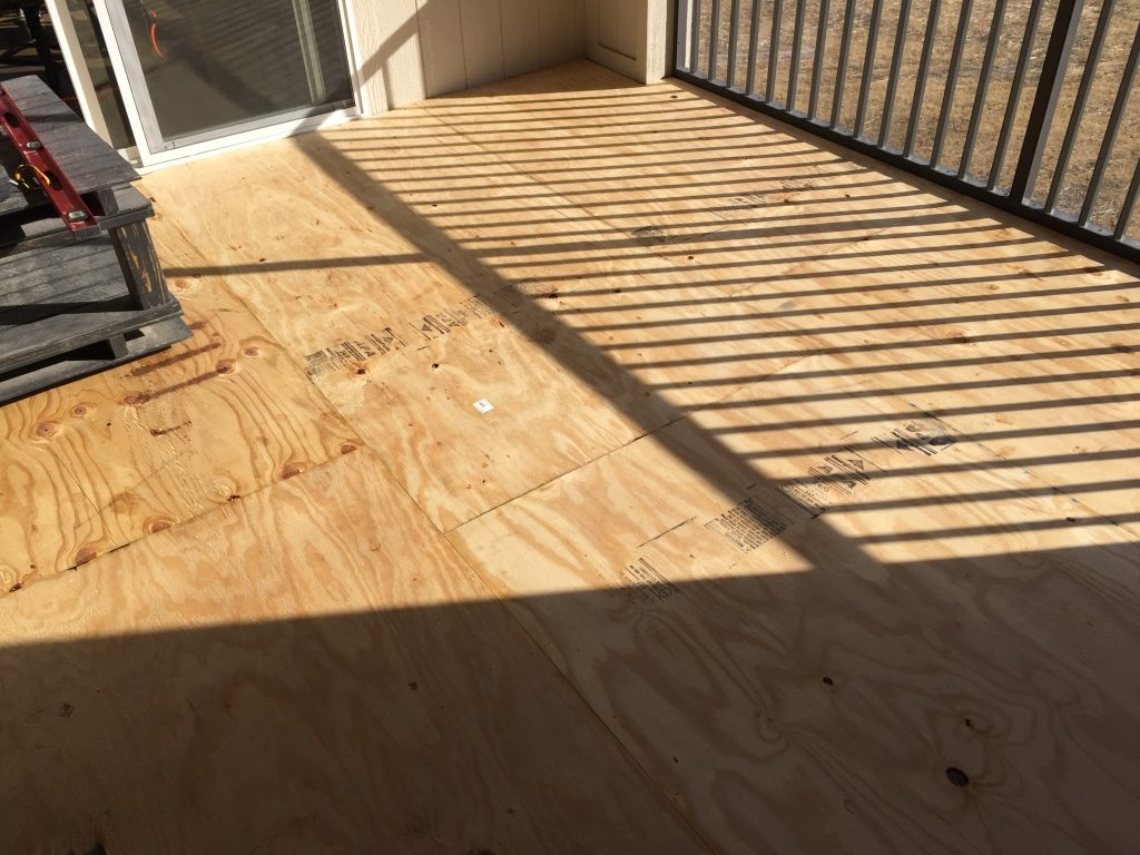 exterior vinyl floor decking for a screened in porch underlayment