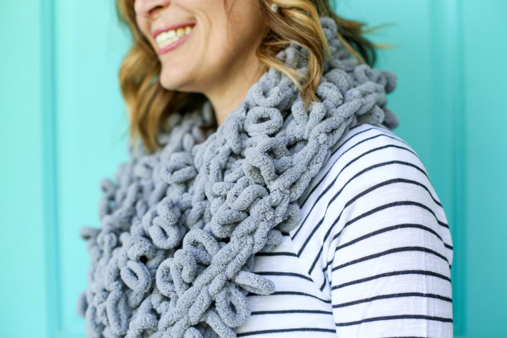 how to make a finger infinity scarf
