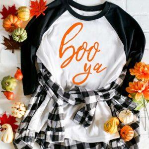 Halloween tee svg cut file boo ya yah2