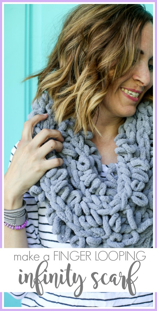 How to finger looping infinity scarf idea