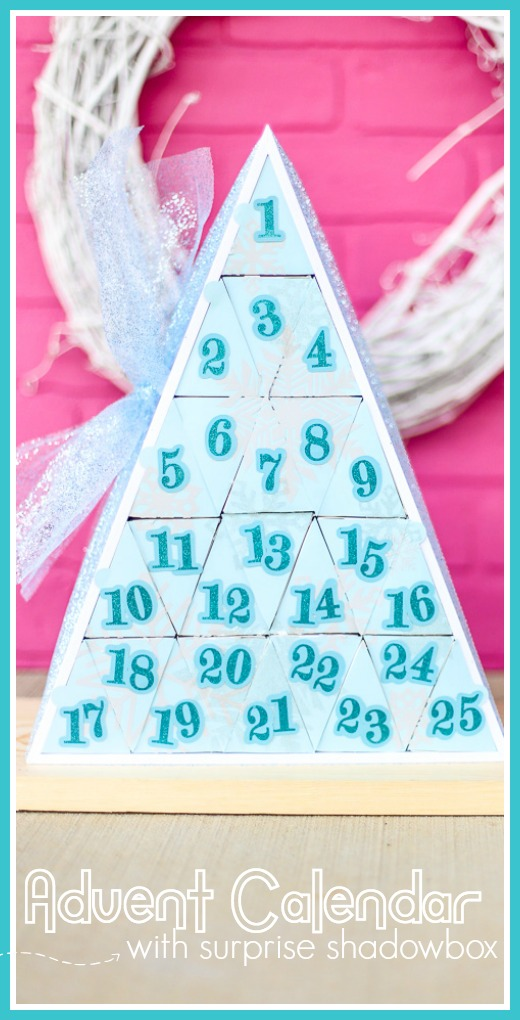 Advent calendar craft idea diy with shadowbox