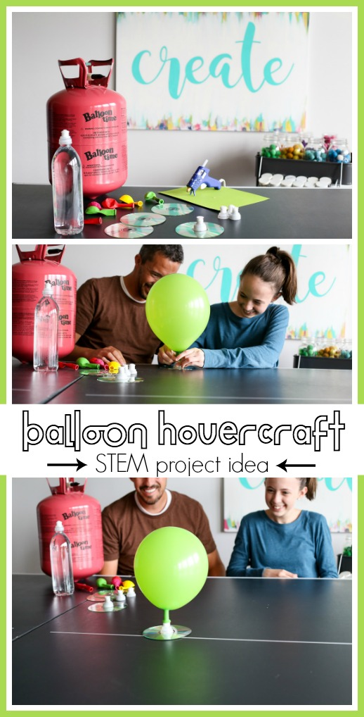 Balloon hovercraft stem project craft idea experiment kids