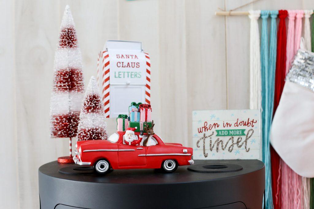 Pink christmas tree decor idea 5