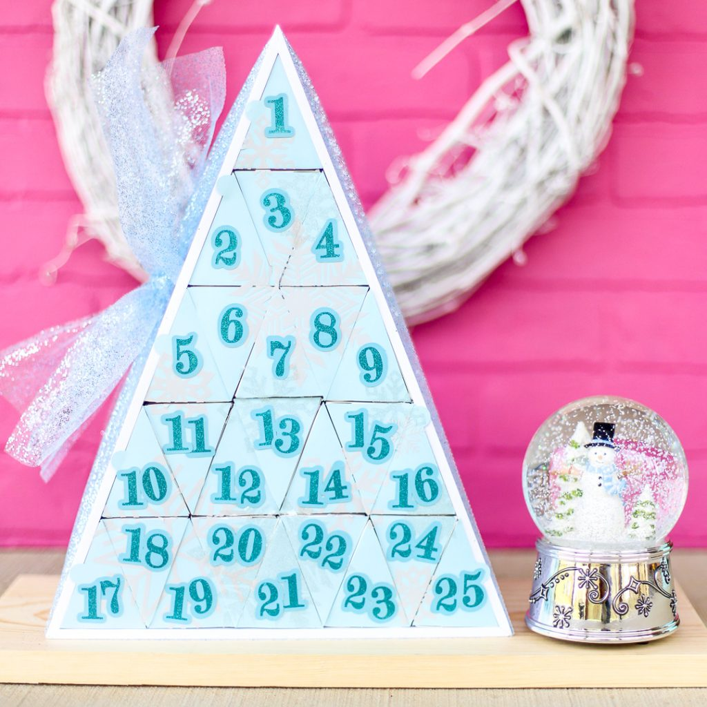 Silhouette advent calendar triangle shadowbox 13