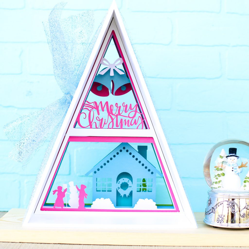 Silhouette advent calendar triangle shadowbox 17