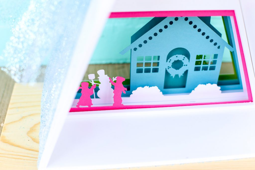 Silhouette advent calendar triangle shadowbox 18