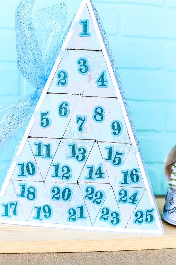 Silhouette advent calendar triangle shadowbox 21