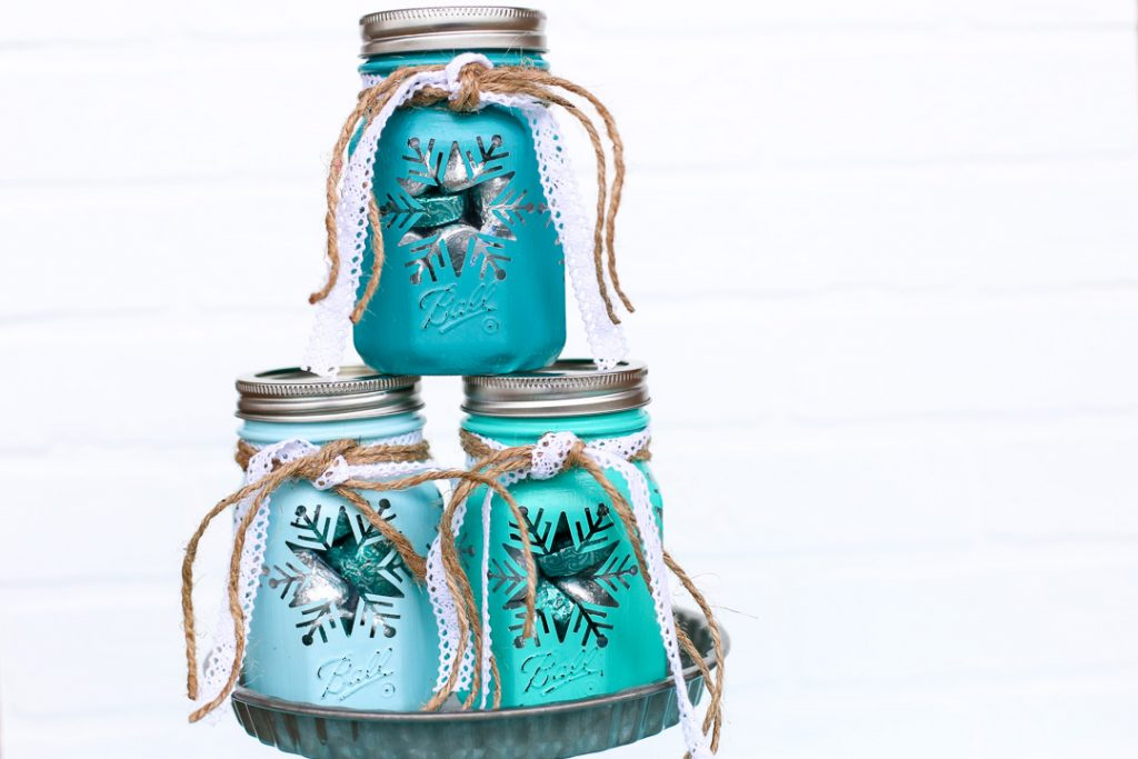 Snowflake Mason Jar Craft Gift Idea Sugar Bee Crafts