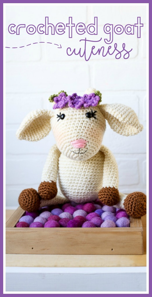 Crocheted goat pattern amigurumi
