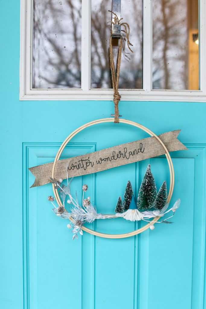 Gnome winter hoop wreath 2