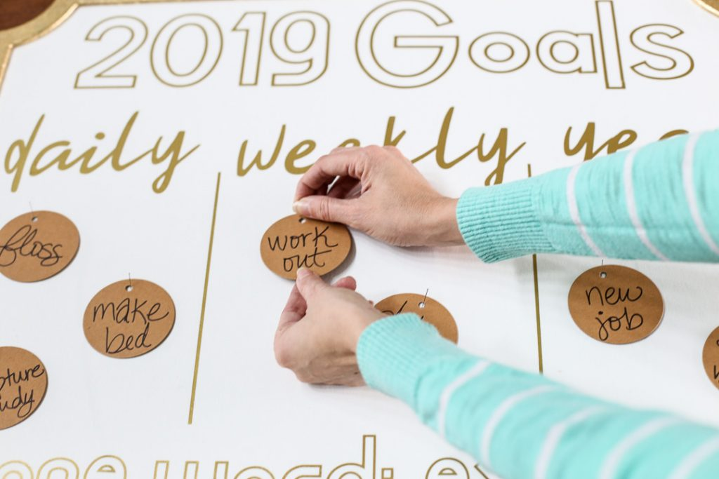 How to make a Goals Board - Sugar Bee Crafts