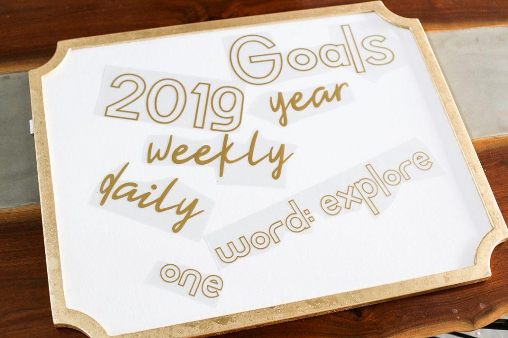 Goals board 4
