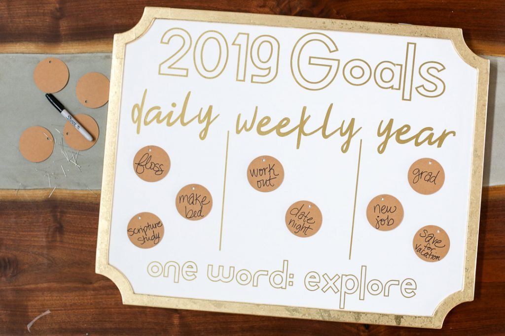 Goals board 8