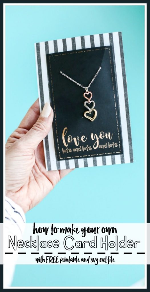 Necklace card printable cut file