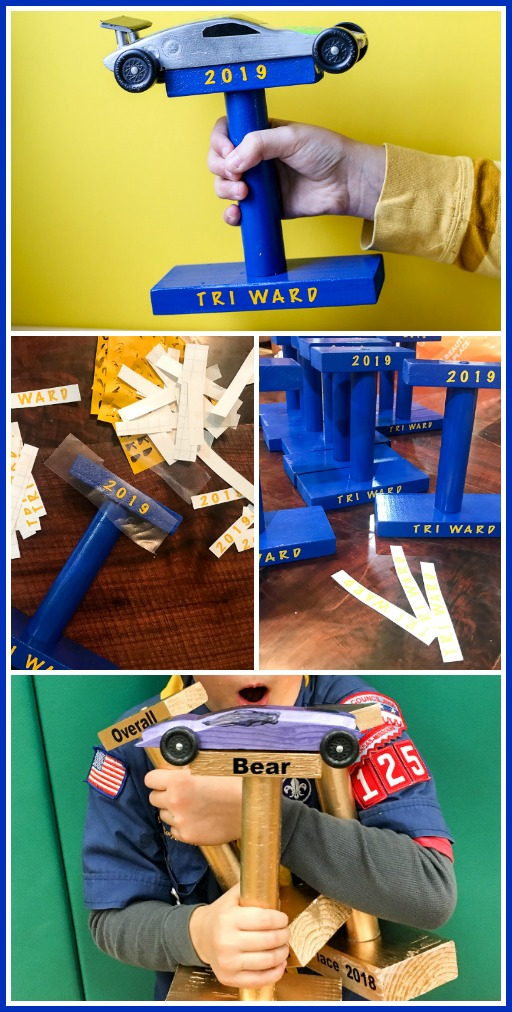 Pinewood derby trophy idea how to make
