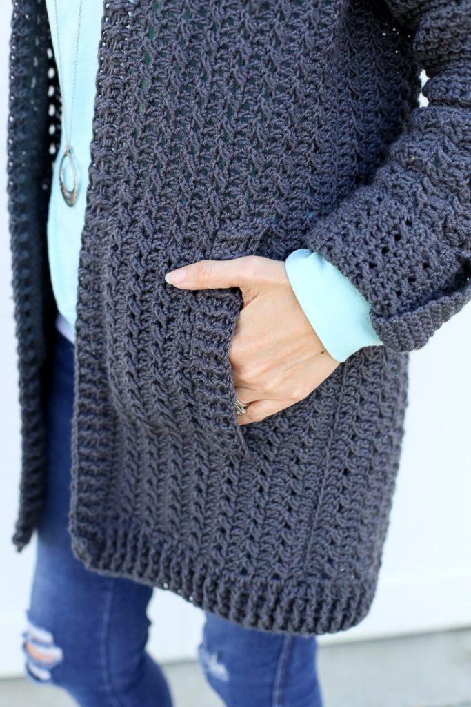 Diy crochet cardigan 8