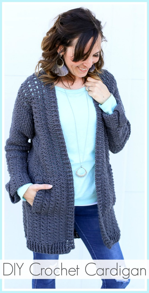 Diy Crochet Cardigan Sugar Bee Crafts
