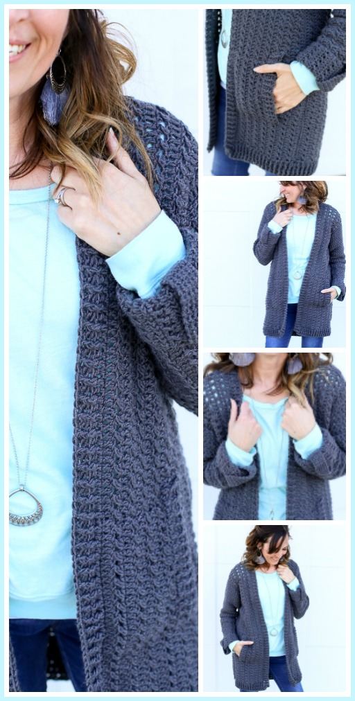 Diy crochet cardigan sweater easy pattern 1
