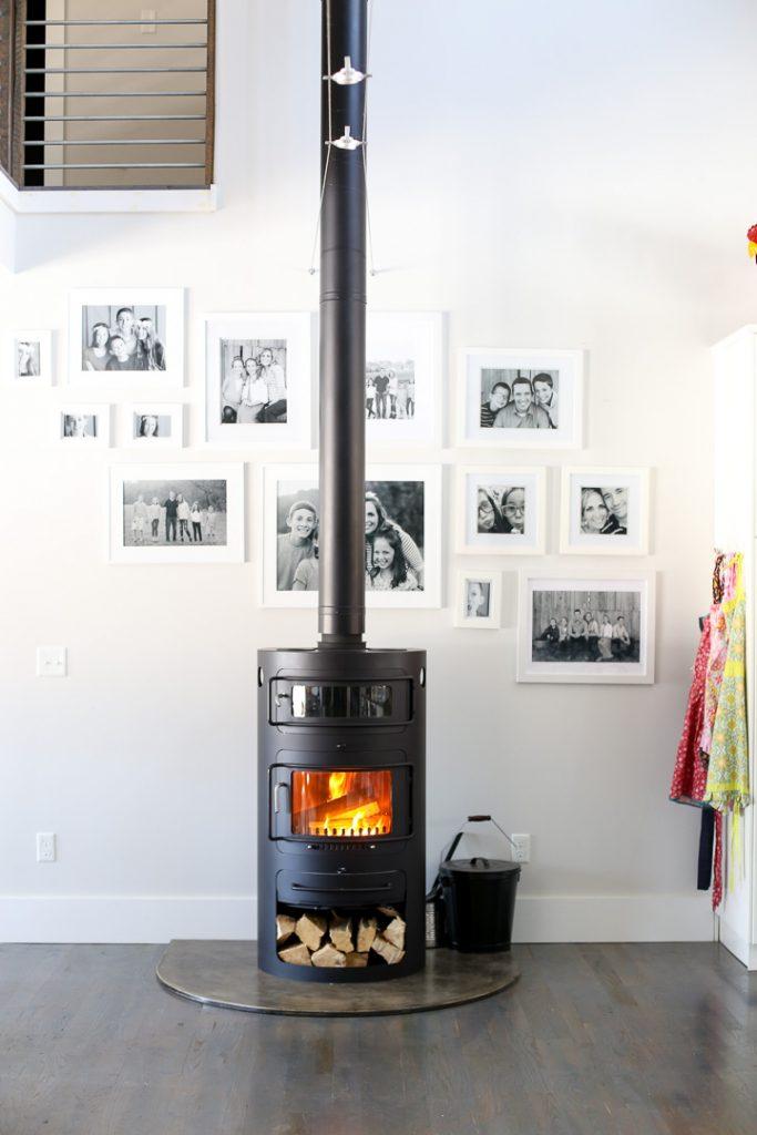 Modern woodburning stove 3