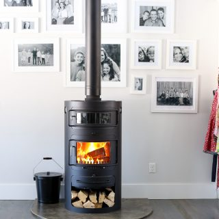 Modern woodburning stove 7