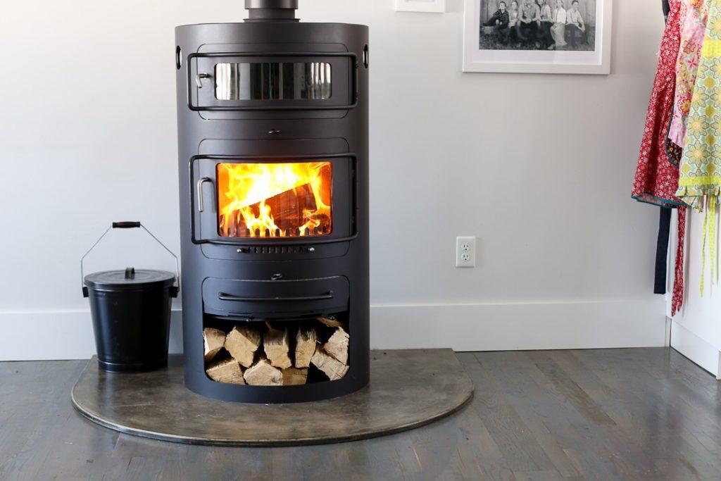 Modern woodburning stove 8