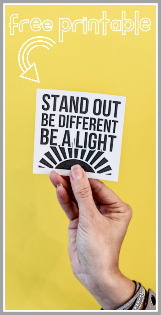Stand out be different free printable idea lds