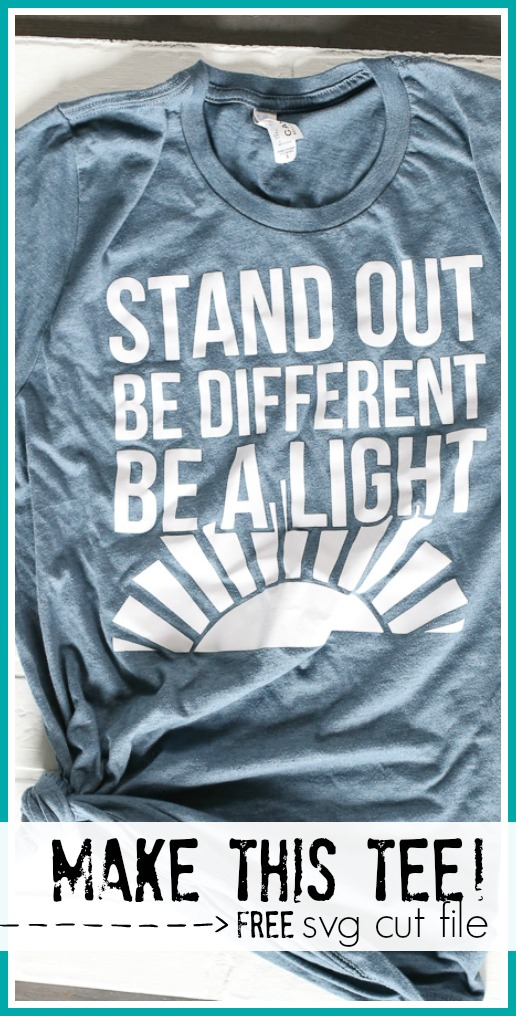 Stand out be different youth conference tshirt idea svg cut file