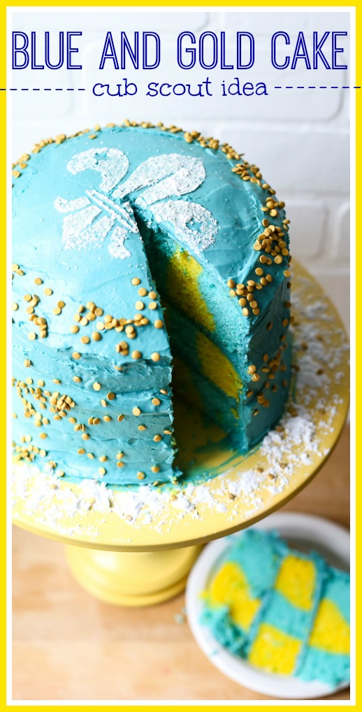 Blue and gold cake idea for cub scouts