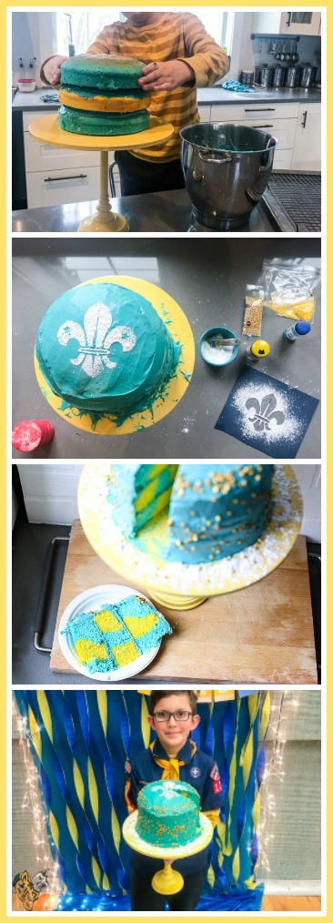 Cub scouts cake blue and gold