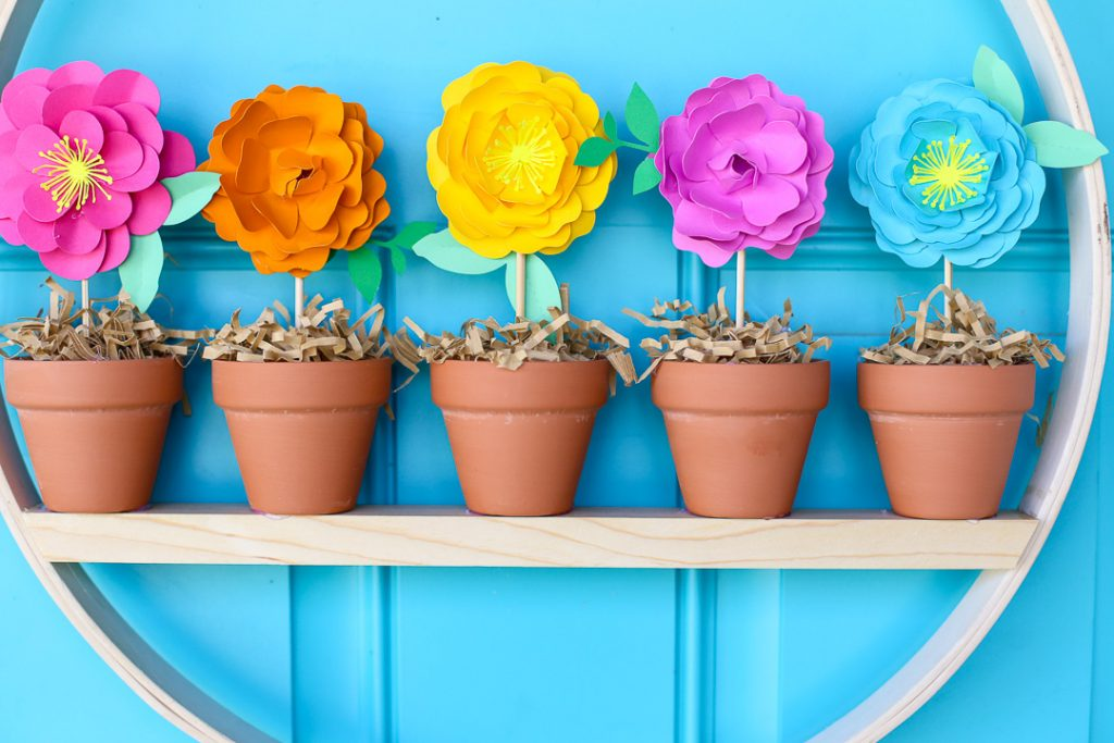 Mini flower pot wreath craft idea 14