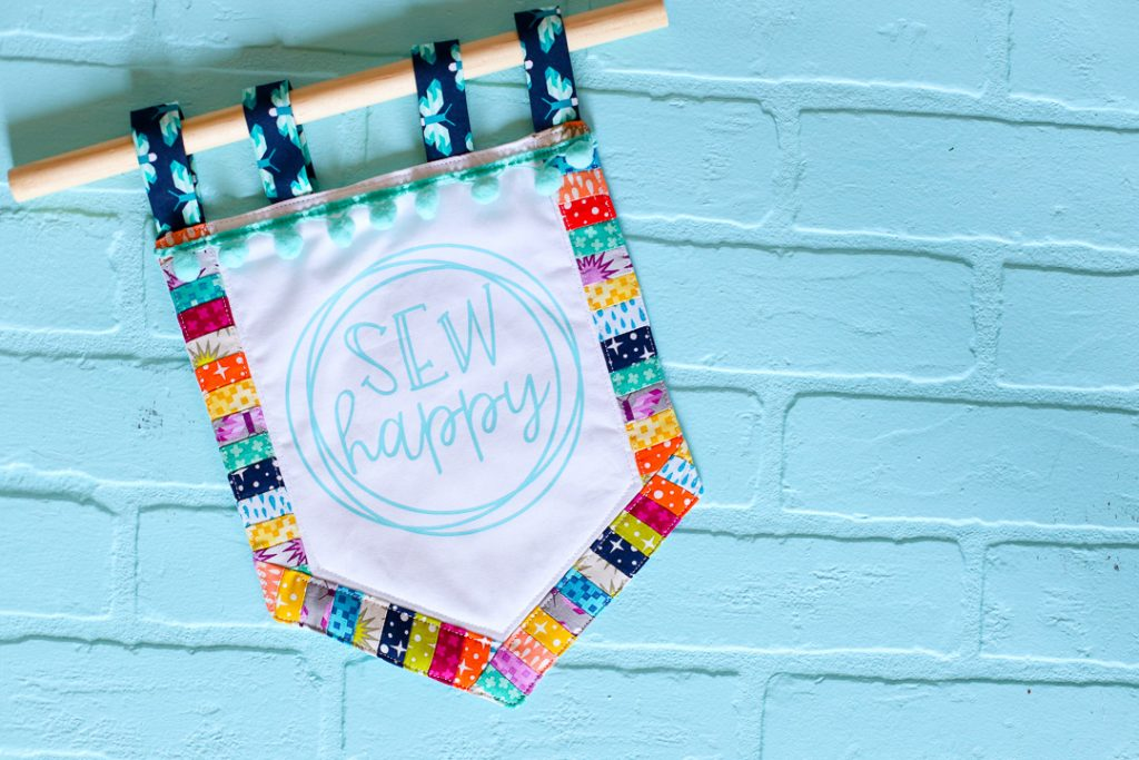 Sew happy banner decal tshirt 12