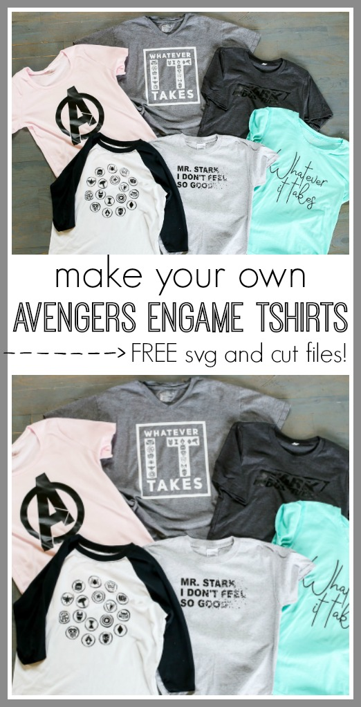 Avengers endgame tshirts diy