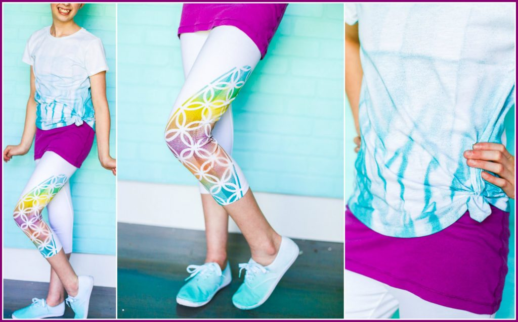 Colorshot leggings stencil
