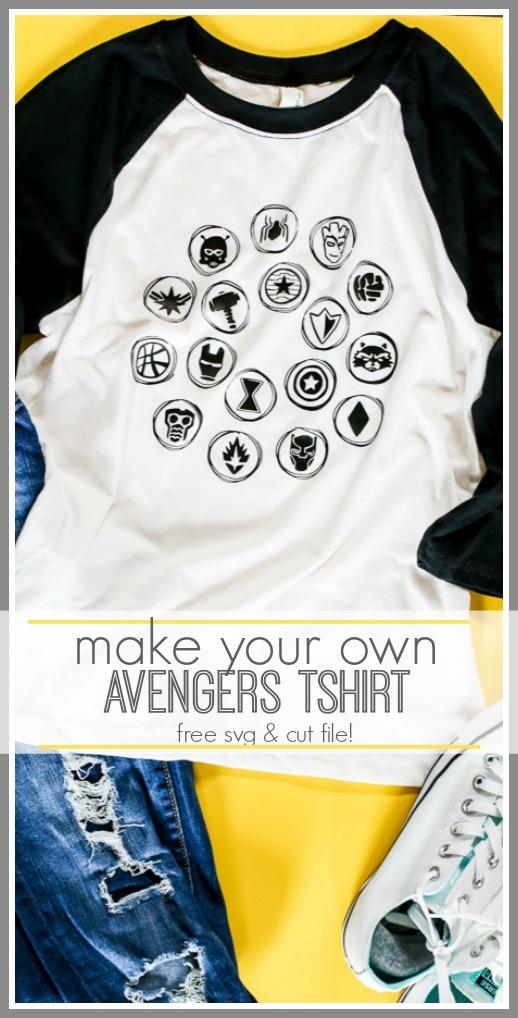Marvel avengers end game svg cut file tshirt