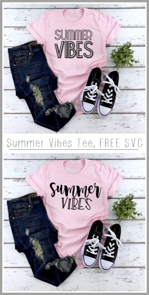 Summer tshirt svg cut file htv vinyl