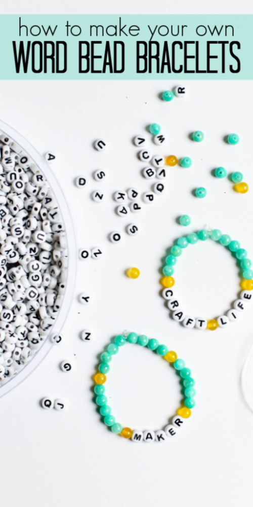 How to make word bead bracelets