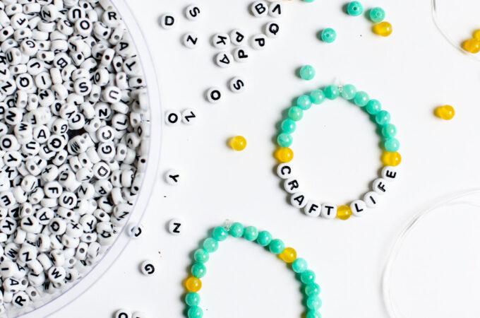Word bead bracelets craft idea 3