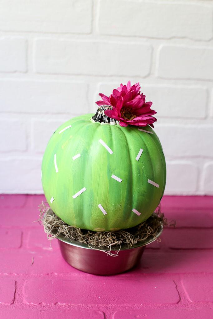 Cactus Pumpkin Craft Idea