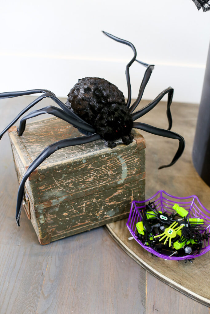 Skeleton spiders decor idea 5