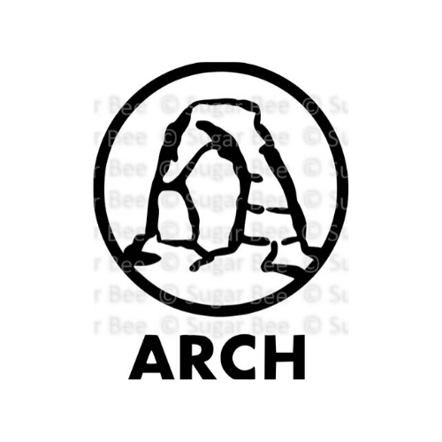Arches National Park Cut File Logo