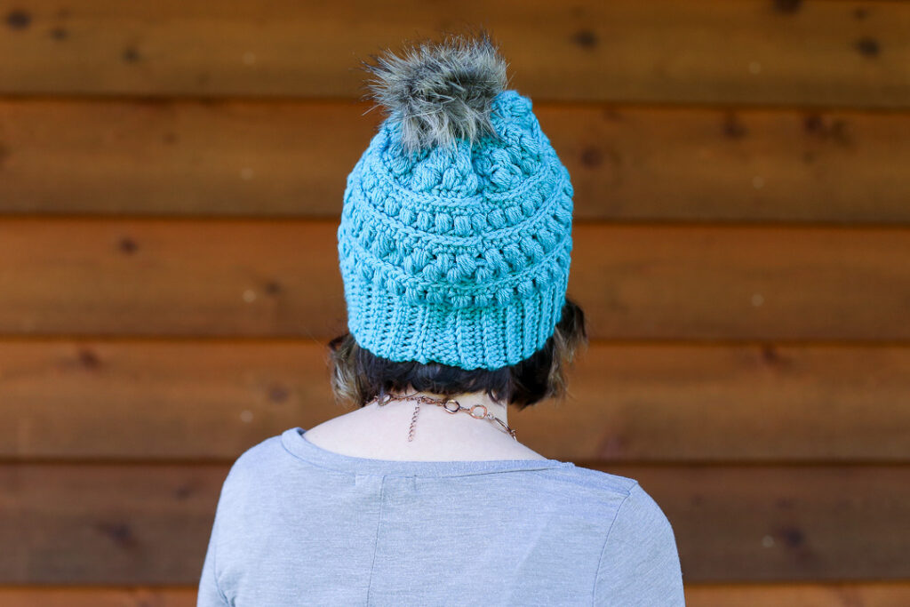Crochet beanie hat snow drop 5