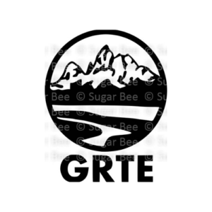 Grand teton national park circle logo watermark