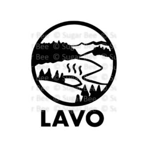 Lassen volcanic national park circle logo watermark