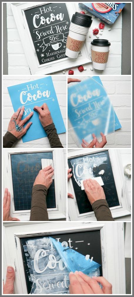 Make a vinyl chalkboard stencil