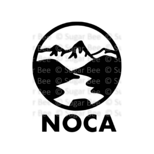 North cascades national park circle logo watermark