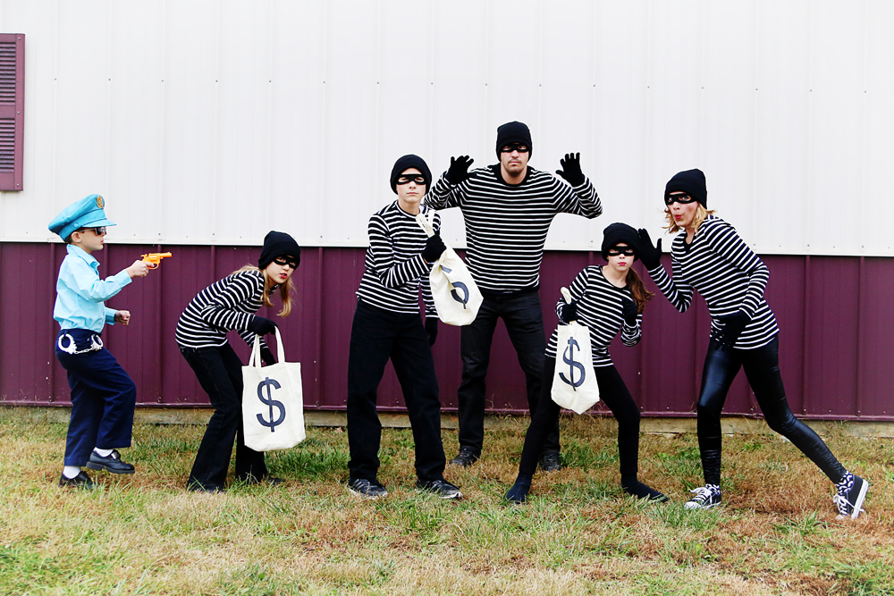 Robbers group costume