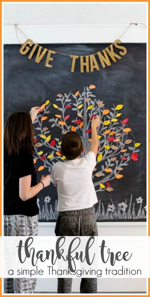 Thankful tree thanksgiving tradition idea